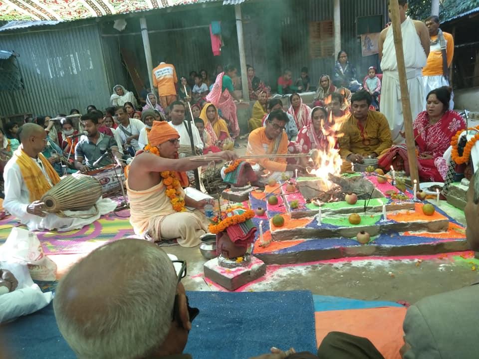 শৈলকুপায় শ্রী শ্রী রাধারমণ মন্দিরের উদ্বোধন